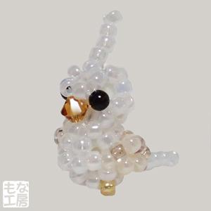 ビーズのオカメインコ-ホワイトフェイス・シナモン・パール