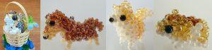 【もな工房】ビーズの鳥、インコ、犬、小動物のモチーフの雑貨、小物などを製作しています。